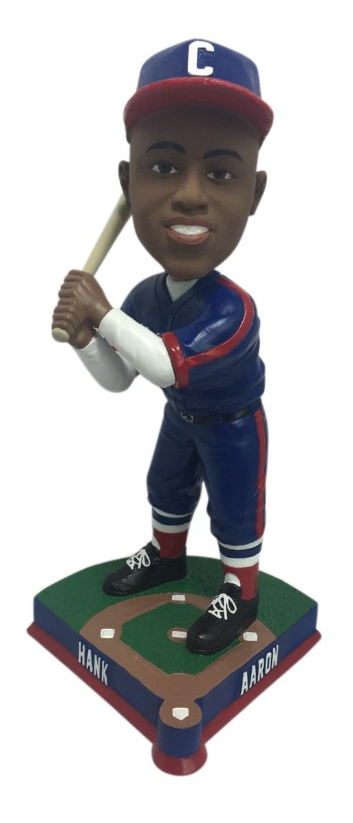 Hank Aaron bobblehead - batting cross-handed - Negro Leagues History