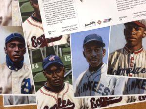 Negro Leagues postcards for Kurzhal art show